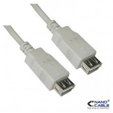 CABLE USB 2.0, TIPO A/H-A/H, BEIGE, 0.5 M