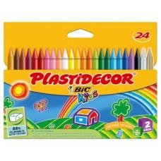 CERA PLASTICA BIC PLASTIDECOR 24UDS