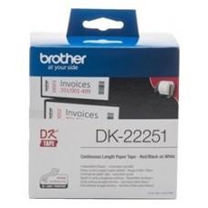 Brother DK-22251 Negro y rojo sobre blanco DK cinta para impresora de etiquetas
