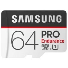 MEMORIA SAMSUNG 64GB PRO ENDURANCE C10, R100/W30,G3 años / 26.280h grab