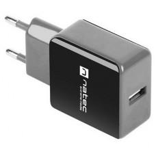 CARGADOR NATEC USB 1.2A 110 240V NEGRO GRIS