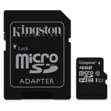 MEMORIA MICRO SD 16GB CLASE 10 SDHC KINGSTON